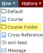 New >> Course Folder